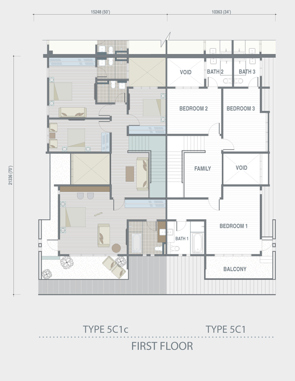 The grey stones precinct floor plan property johor for Cluster house floor plan