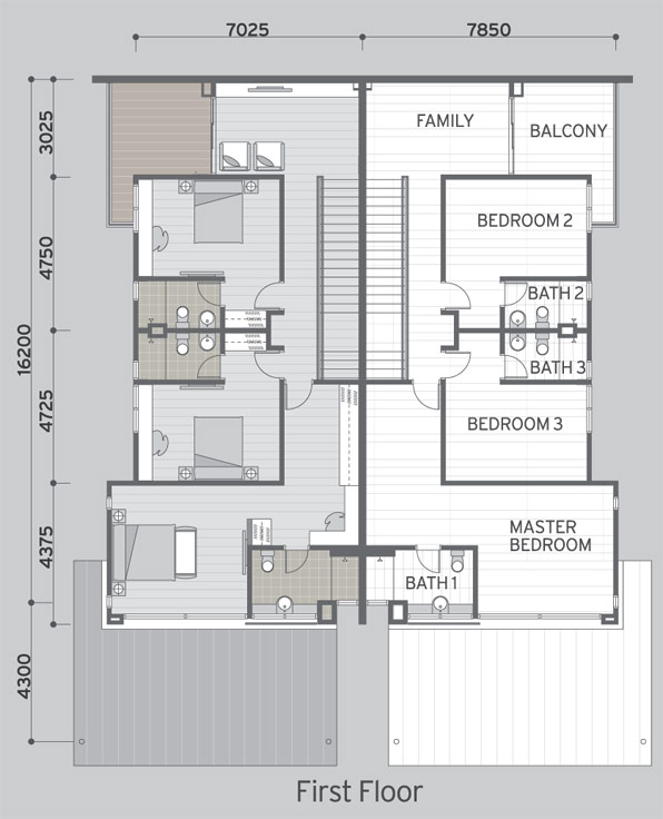 The purple field precinct floor plan property johor for Cluster house floor plan