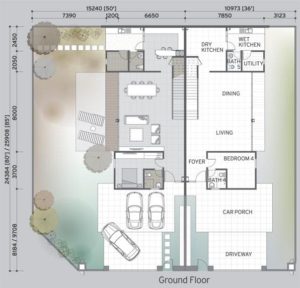 The Purple Field Precinct Floor Plan Property Johor Bahru - Cluster home floor plans