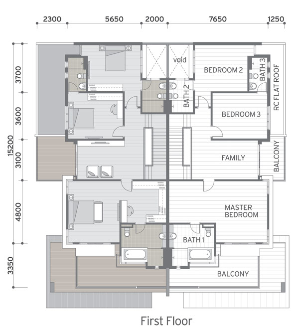 Marvelous cluster house floor plan photos exterior ideas for Cluster house floor plan